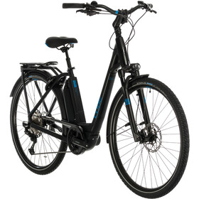 Cube Town Sport Hybrid EXC 500 Easy Entry, black/blue